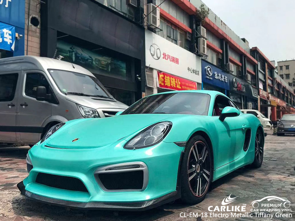 CARLIKE CL-EM-18 ELECTRO METALLIC TIFFANY GREEN VINYL FOR PORSCHE