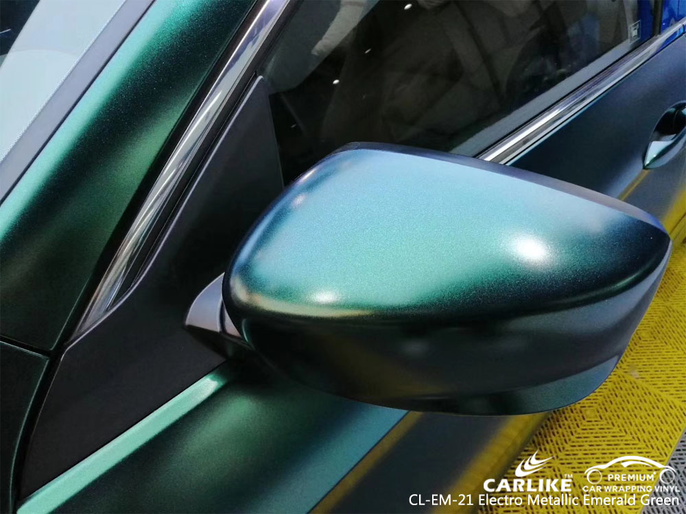 CARLIKE CL-EM-21 ELECTRO METALLIC EMERALD GREEN CAR WRAP VINYL