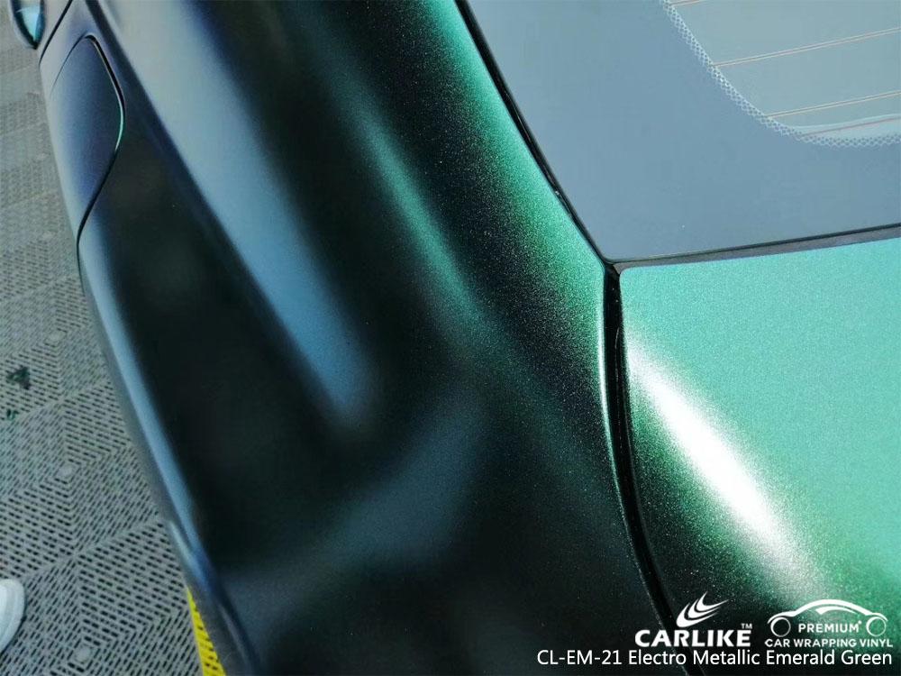 CARLIKE CL-EM-21 ELECTRO METALLIC EMERALD GREEN CAR WRAP VINYL