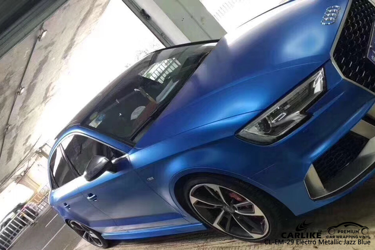 CARLIKE CL-EM-29 ELECTRO METALLIC JAZZ BLUE VINYL FOR AUDI
