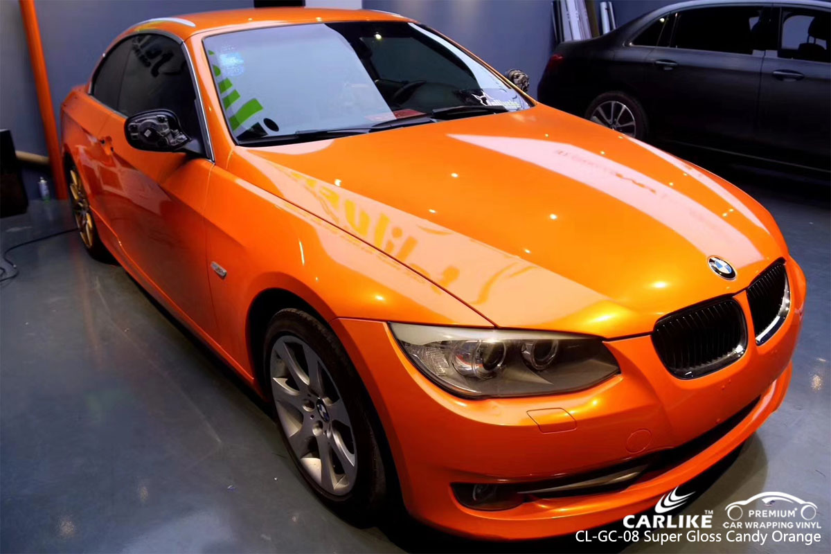 CARLIKE CL-GC-08 SUPER GLOSS CANDY ORANGE VINYL FOR BMW