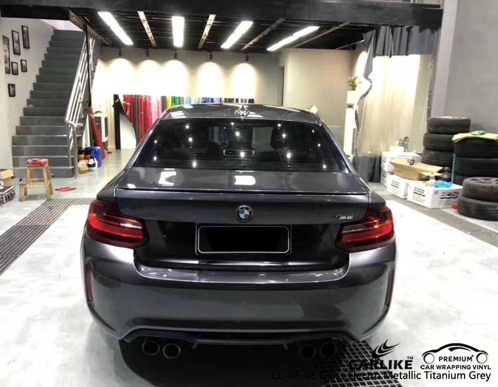 CARLIKE CL-GE-05 GLOSS ELECTRO METALLIC TITANIUM GRAY VINYL FOR BMW
