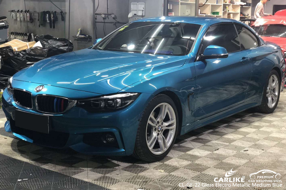 CARLIKE CL-GE-22 GLOSS ELECTRO METALLIC MEDIUM BLUE VINYL FOR BMW
