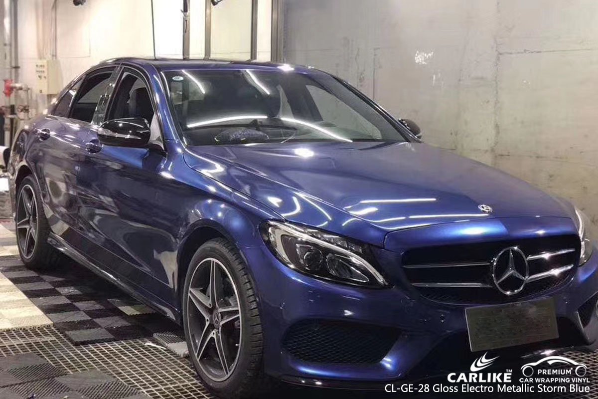 CARLIKE CL-GE-28 GLOSS ELECTRO METALLIC STORM BLUE VINYL FOR MERCEDES-BENZ
