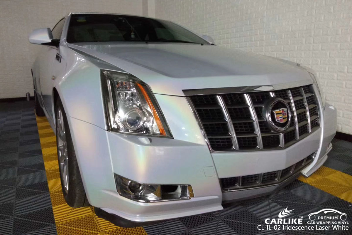 CARLIKE CL-IL-02 IRIDESCENCE LASER WHITE VINYL FOR CADILLAC