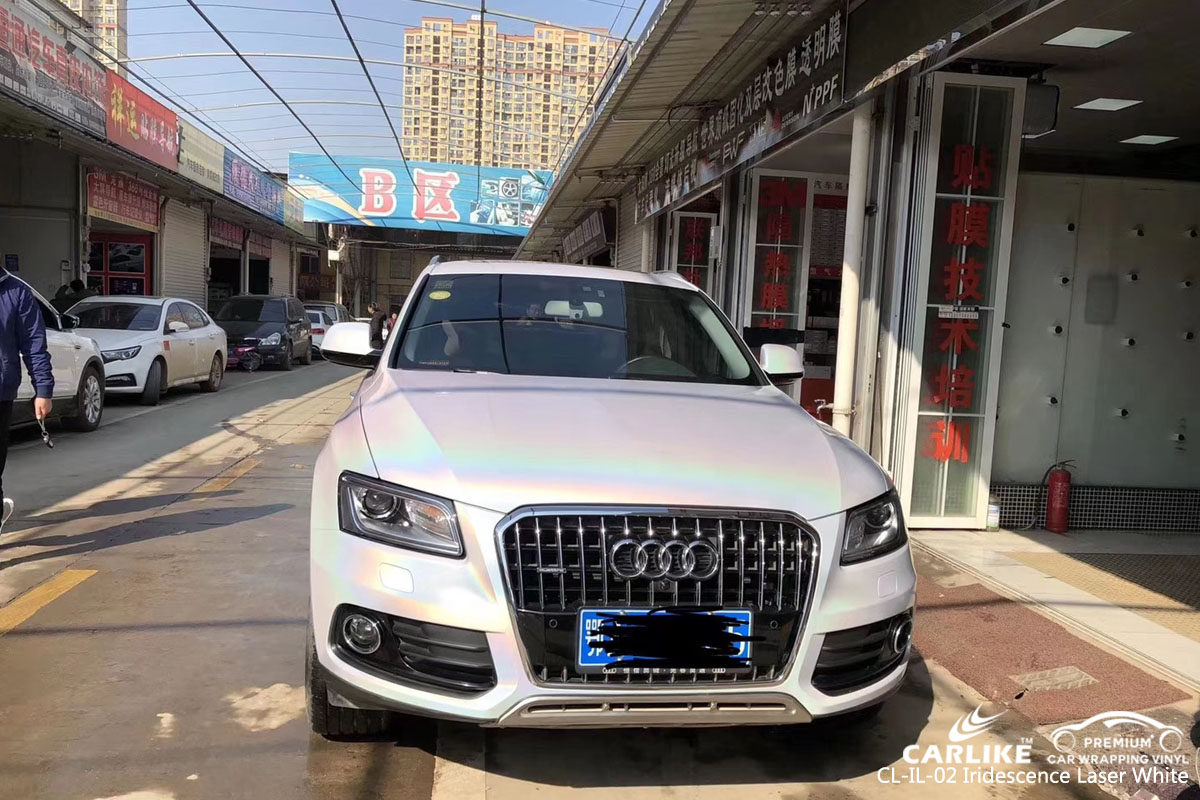 CARLIKE CL-IL-02 IRIDESCENCE LASER WHITE VINYL FOR AUDI