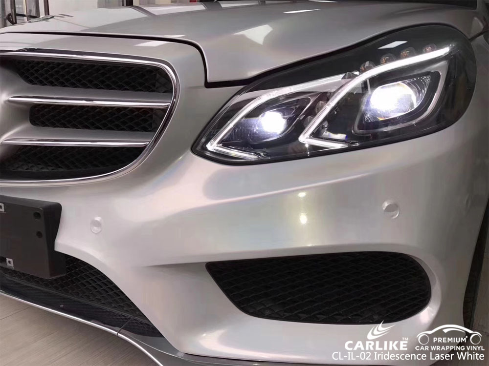 CARLIKE CL-IL-02 IRIDESCENCE LASER WHITE VINYL FOR MERCEDES-BENZ