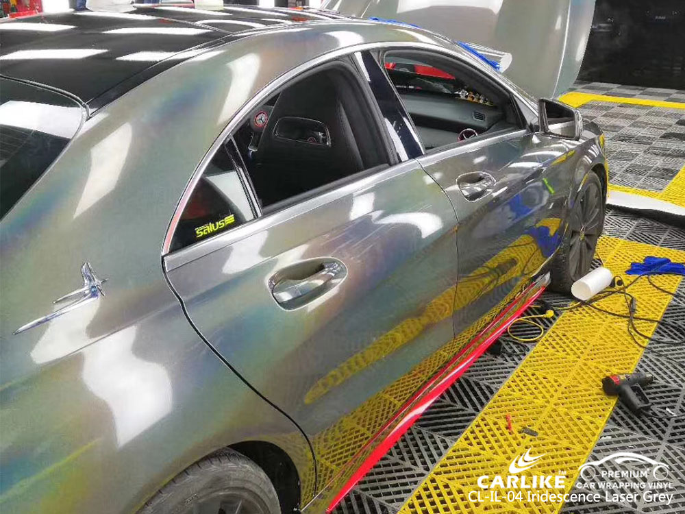 CARLIKE CL-IL-04 IRIDESCENCE LASER GRAY VINYL FOR MERCEDES-BENZ