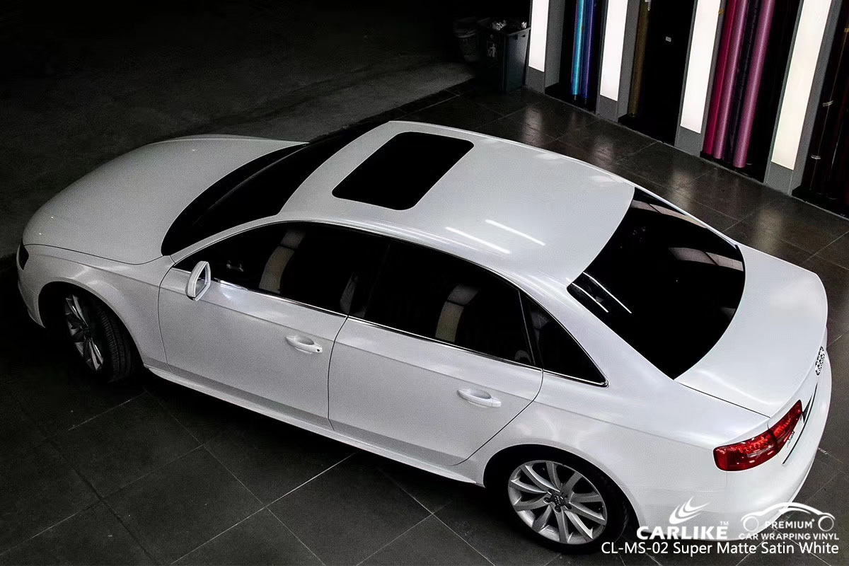 CARLIKE CL-MS-02 SUPER MATTE SATIN WHITE VINYL FOR AUDI