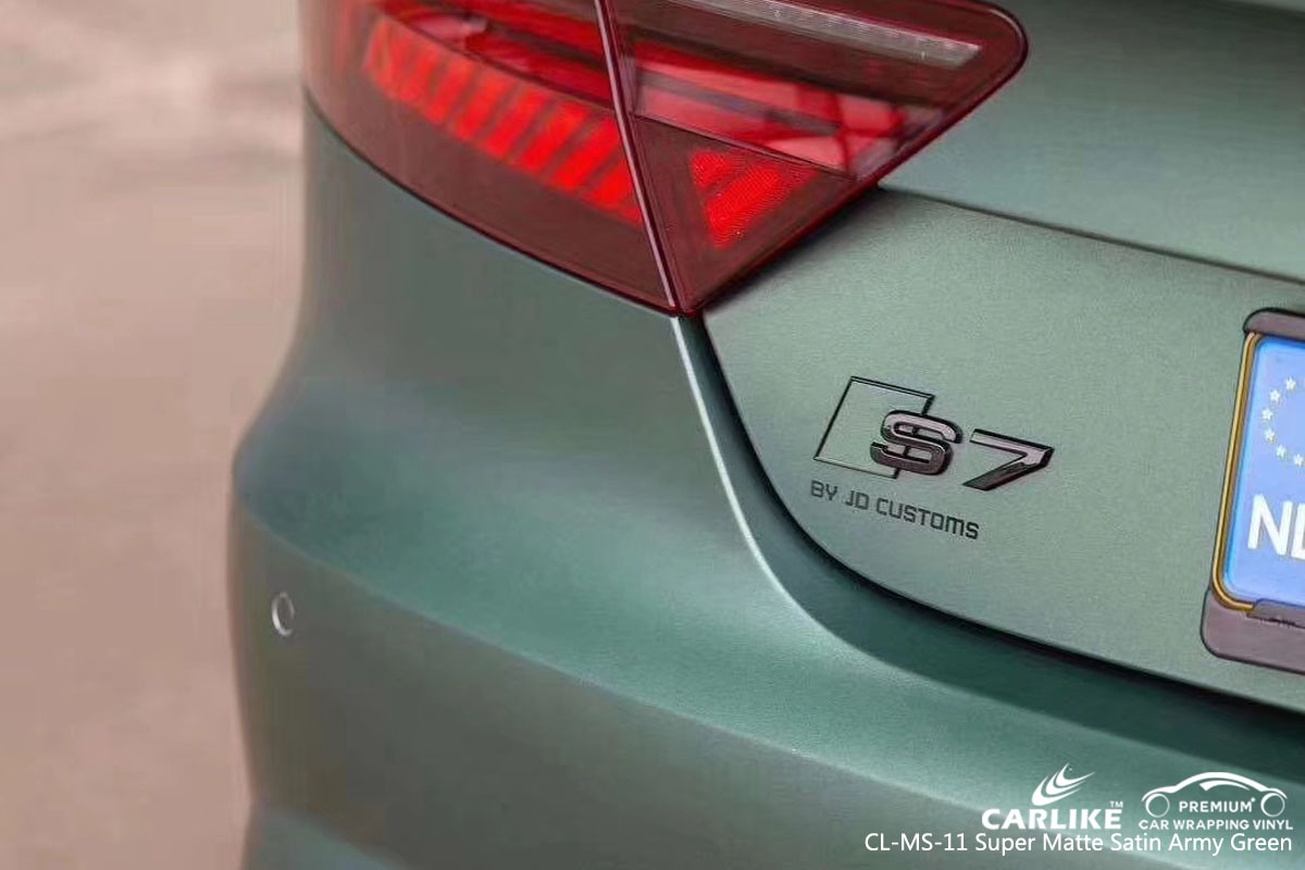CARLIKE CL-MS-11 SUPER MATTE SATIN ARMY GREEN VINYL FOR AUDI