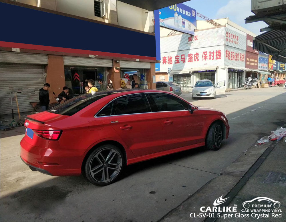 CARLIKE CL-SV-01 SUPER GLOSS CRYSTAL RED VINYL FOR AUDI