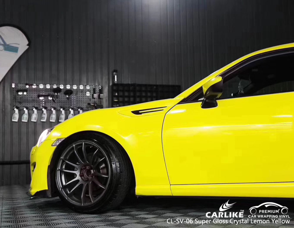 CARLIKE CL-SV-06 SUPER GLOSS CRYSTAL LEMON YELLOW CAR WRAP VINYL