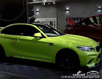 CARLIKE CL-SV-28 vinilo verde cristal super brillante para bmw