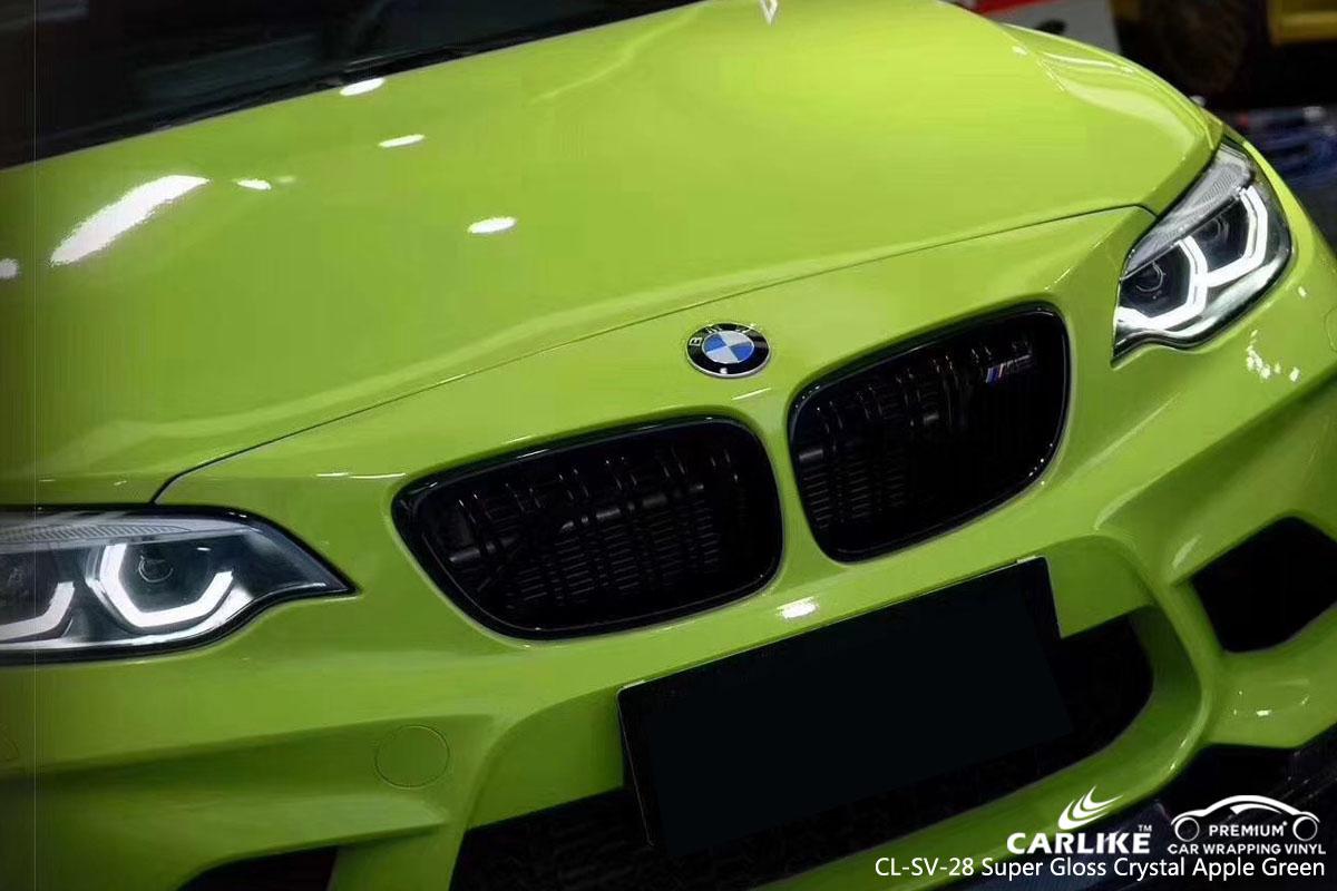 CARLIKE CL-SV-28 SUPER GLOSS CRYSTAL APPLE GREEN VINYL FOR BMW