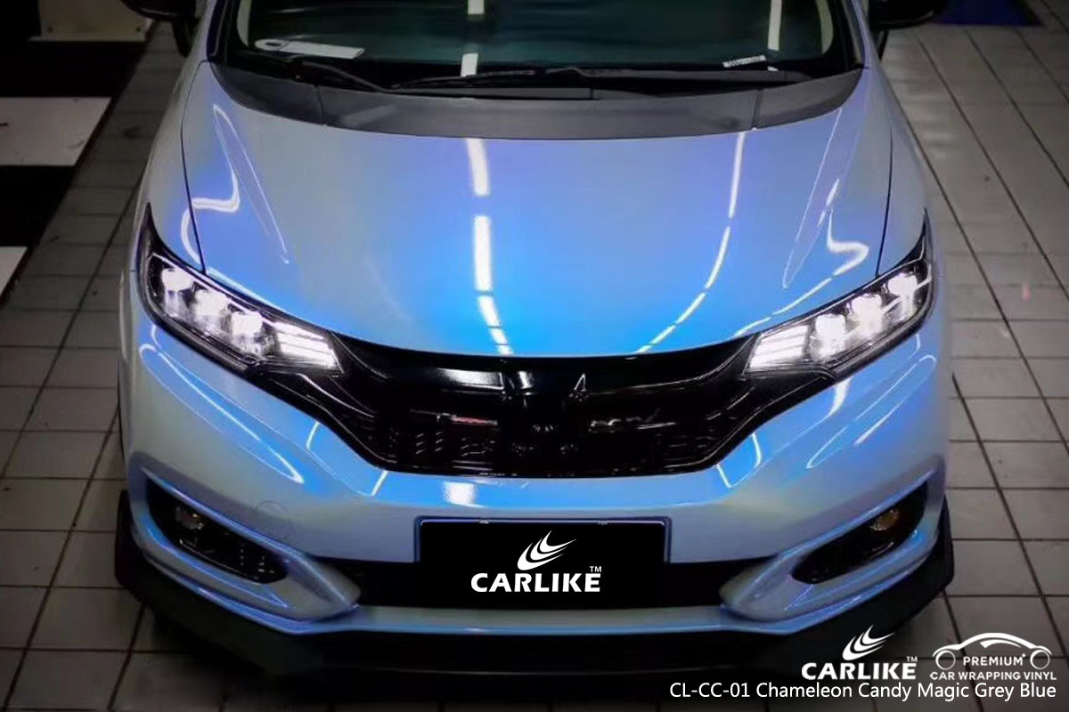 CARLIKE CL-CC-01 chameleon candy magic grey blue car wrap vinyl