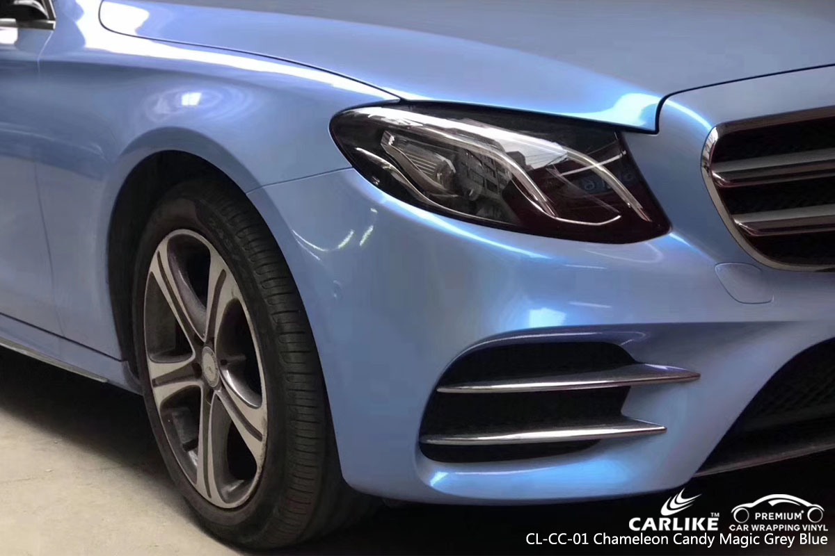 CARLIKE CL-CC-01 chameleon candy magic grey blue vinyl for MERCEDES-BENZ
