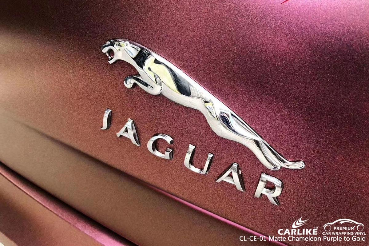 CARLIKE CL-CE-01 chameleon purple to gold vinyl for jaguar