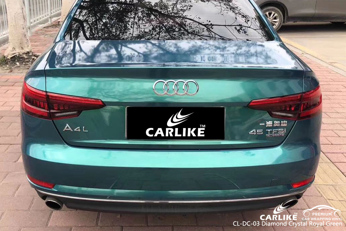 CARLIKE CL-DC-03 diamond crystal royal green vinyl for audi