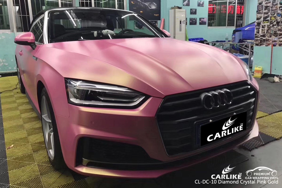 CARLIKE CL-DC-10 diamond crystal pink gold vinyl for audi