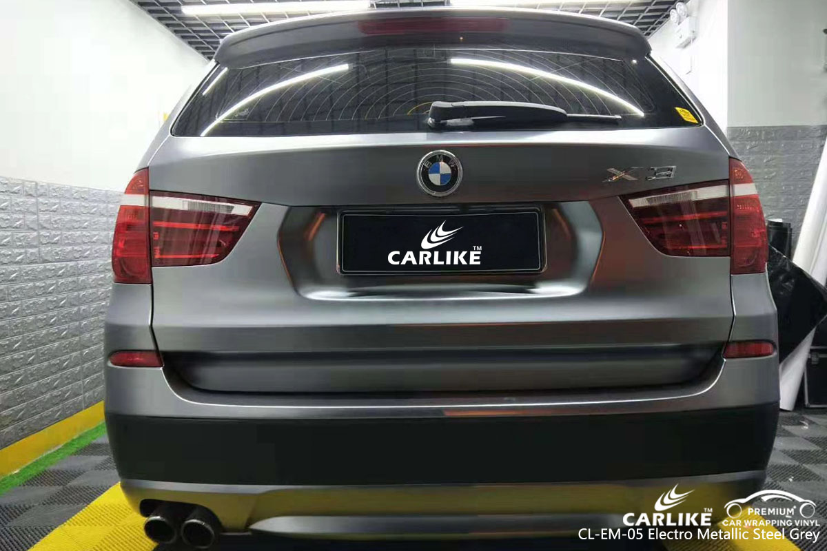 CARLIKE CL-EM-05 electro metallic steel grey vinyl for BMW