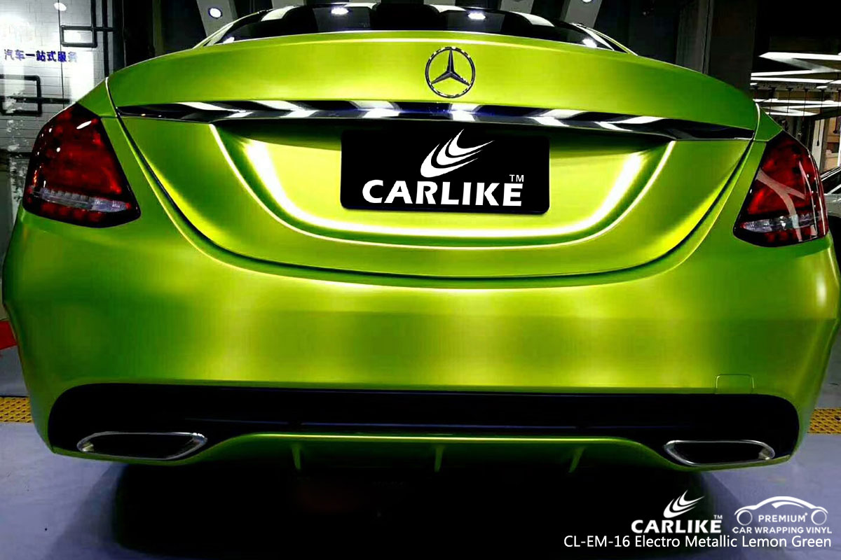CARLIKE CL-EM-16 electro metallic lemon green vinyl for audi