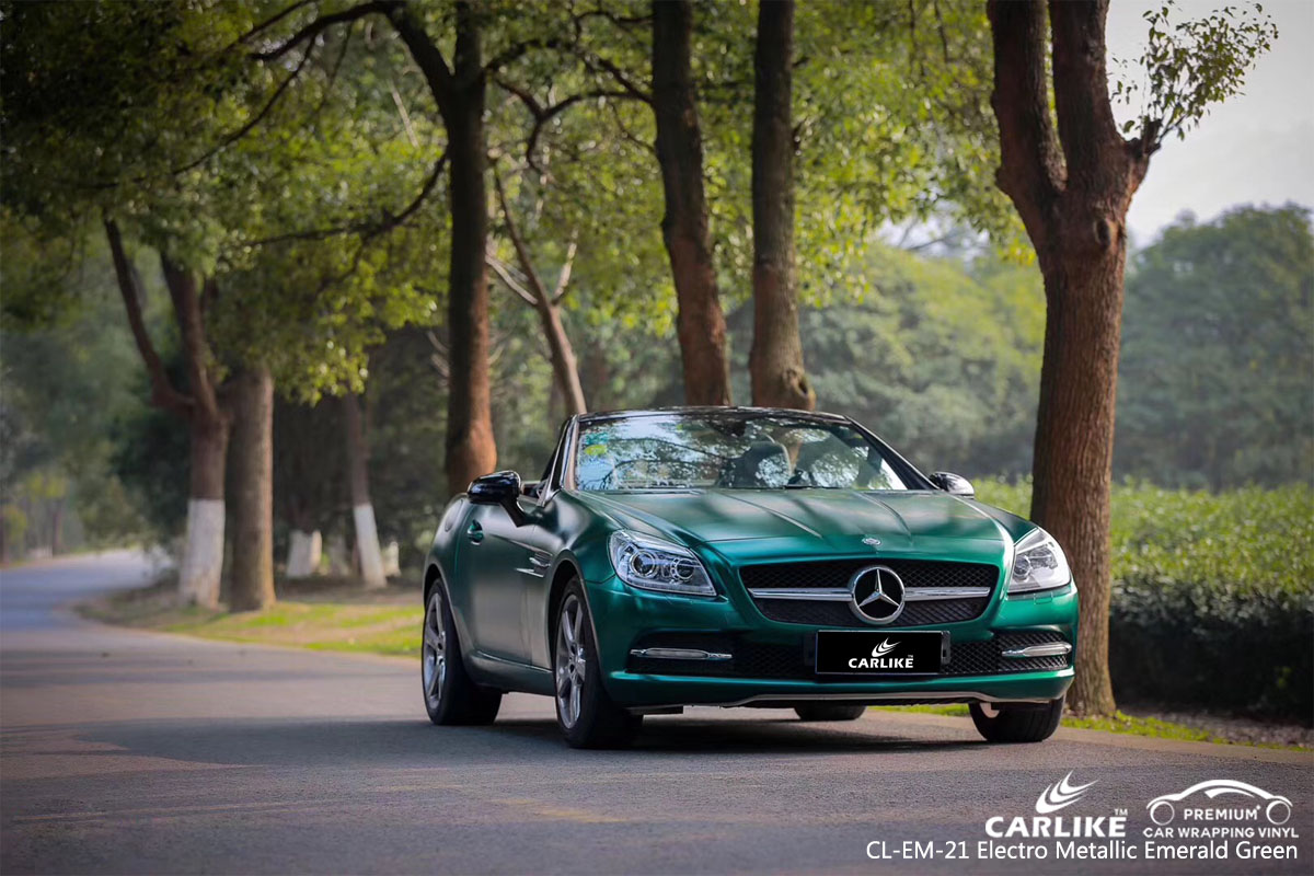 CARLIKE CL-EM-21 electro metallic emerald green vinyl for MERCEDES-BENZ