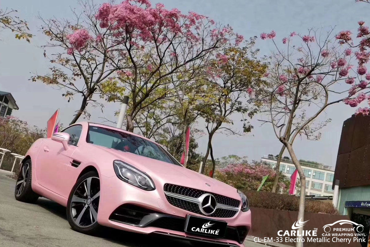CARLIKE CL-EM-33 electro metallic cherry pink vinyl for MERCEDES-BENZ