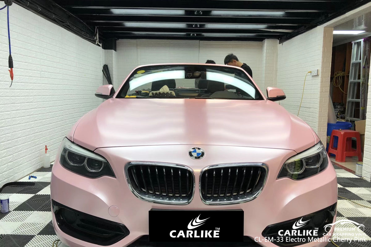 CARLIKE CL-EM-33 electro metallic cherry pink vinyl for BMW