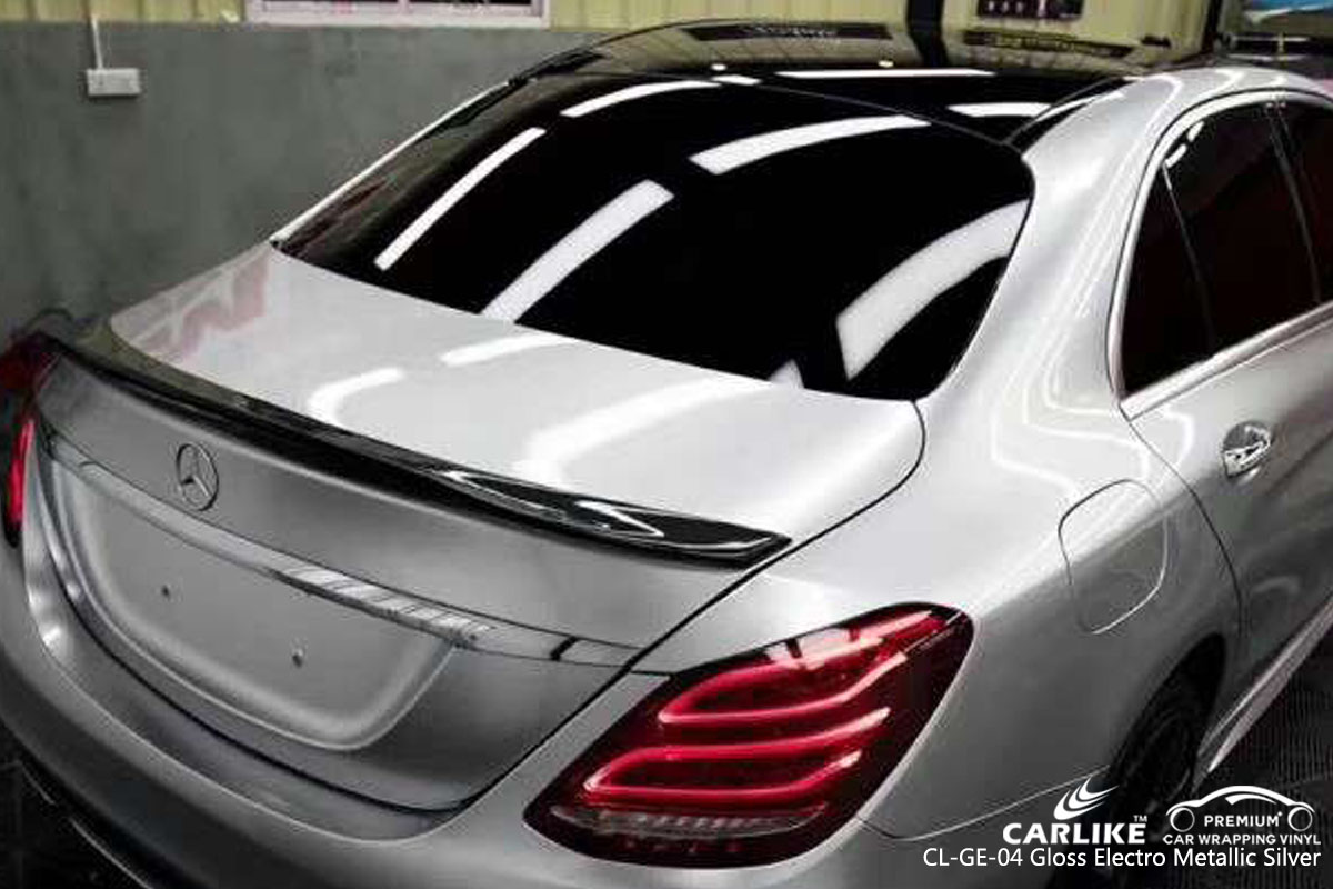 CARLIKE CL-GE-04 gloss electro metallic silver vinyl for audi