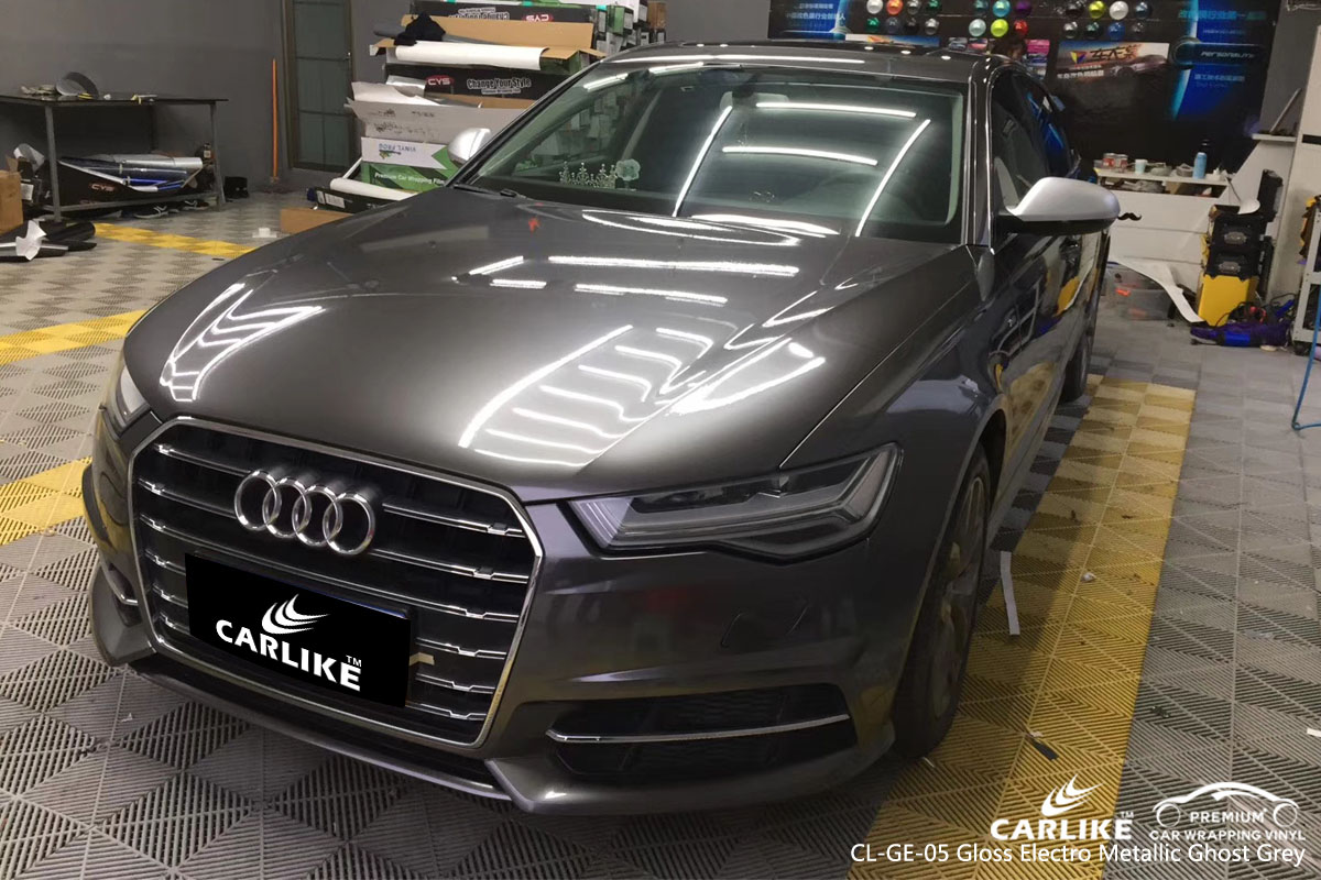 CARLIKE CL-GE-05 gloss electro metallic ghost grey vinyl for audi