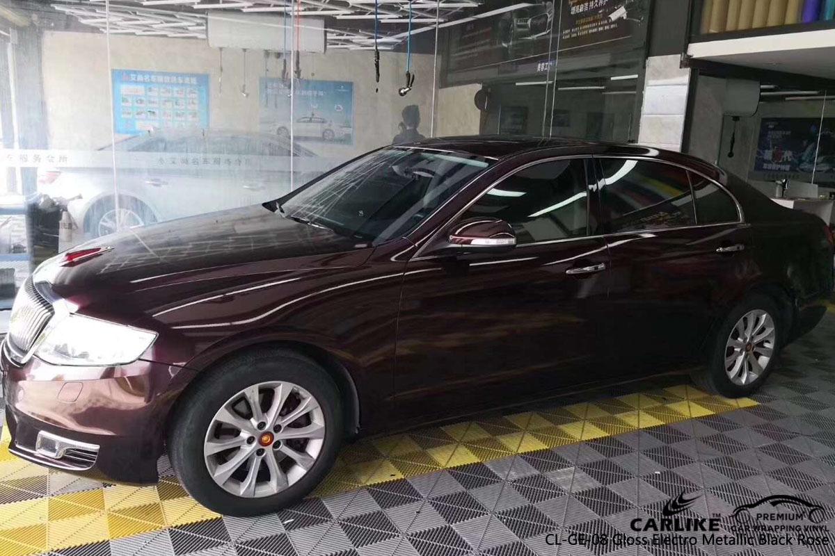 CARLIKE CL-GE-08 electro metallic black rose car wrapping vinyl