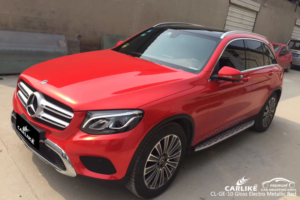 CARLIKE CL-GE-10 gloss electro metallic red vinyl for MERCEDES-BENZ