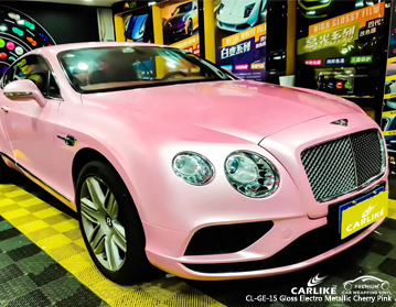 CARLIKE CL-GE-15 gloss electro metallic cherry pink vinyl for BENTLEY