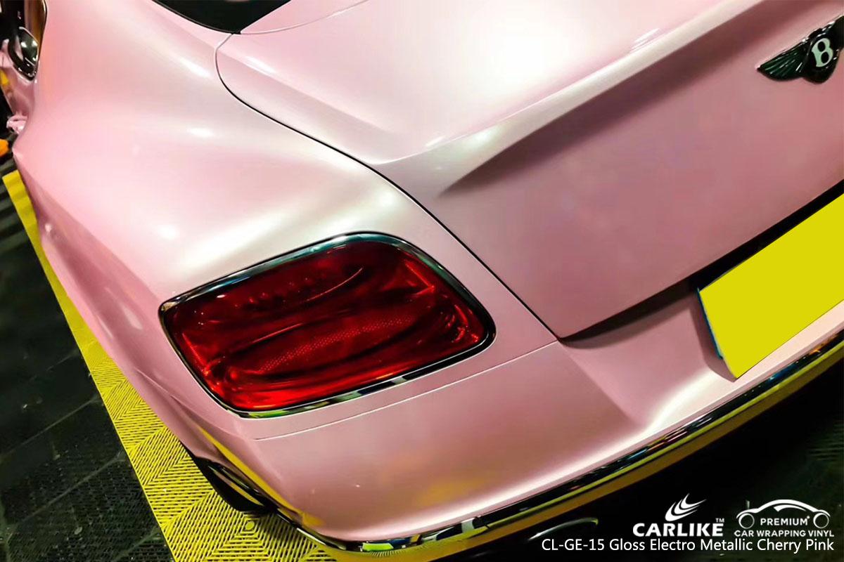 CARLIKE CL-GE-15 gloss electro metallic cherry pink vinyl for BENTLEY