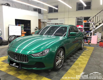 CARLIKE CL-GE-30 gloss electro metallic emerald green vinyl for MASERATI