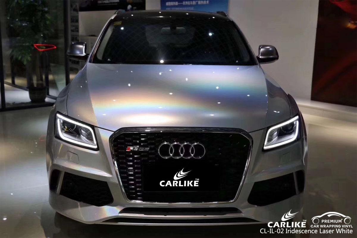 CARLIKE CL-IL-02 ididescence laser white vinyl for audi