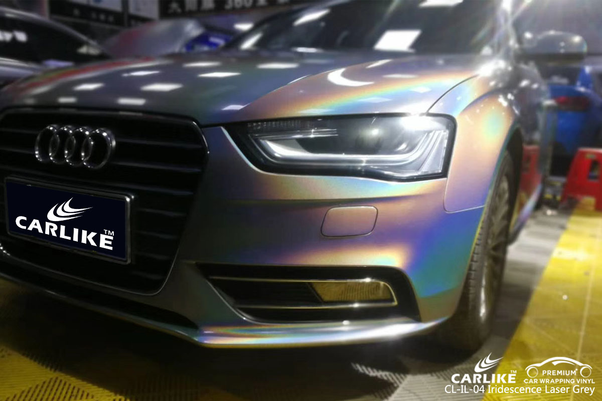 CARLIKE CL-IL-04 iridescence laser grey vinyl for audi