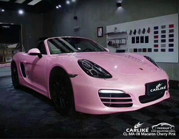 CARLIKE CL-MA-08 macaron cherry pink vinyl for PORSCHE