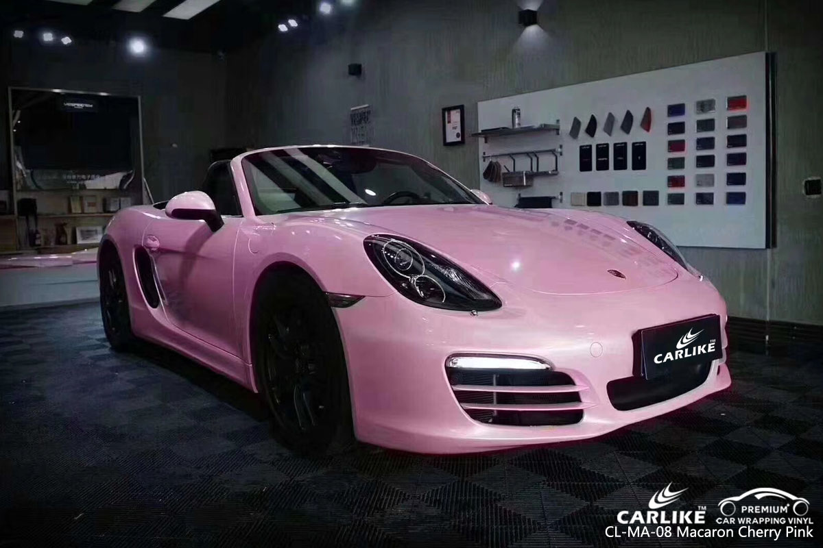 CARLIKE CL-MA-08 macaron cherry pink vinyl for PORSCHE