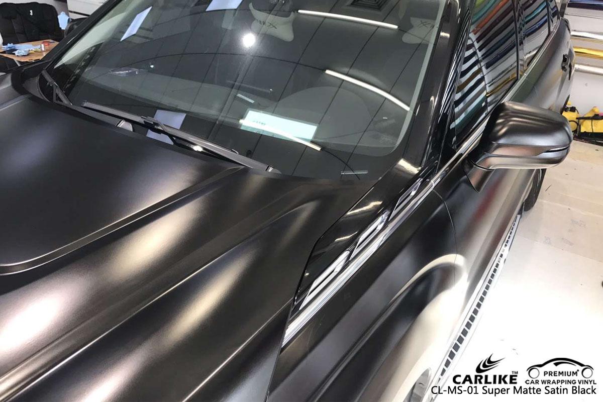 CARLIKE CL-MS-01 super matte satin black car wrap vinyl