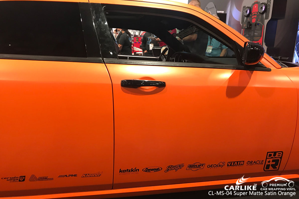 CARLIKE CL-MS-04 super matte satin orange car wrapping vinyl