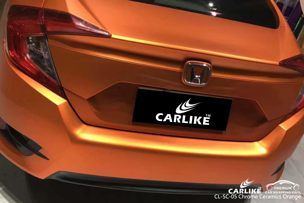 CARLIKE CL-SC-05 chrome ceramics orange vinyl for honda