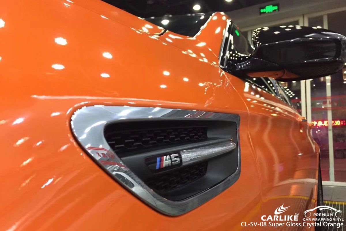 CARLIKE CL-SV-08 super gloss crystal orange vinyl for BMW
