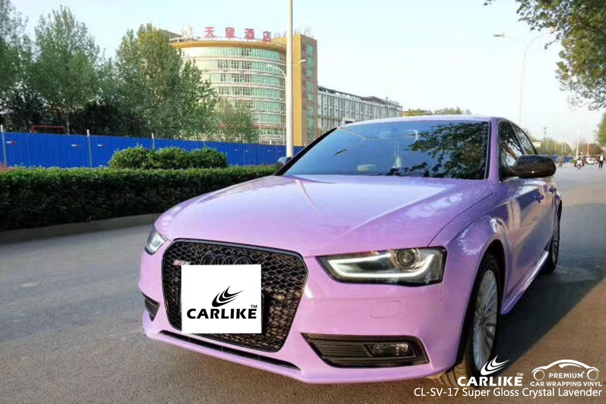 CARLIKE CL-SV-17 gloss crystal lavender vinyl for audi