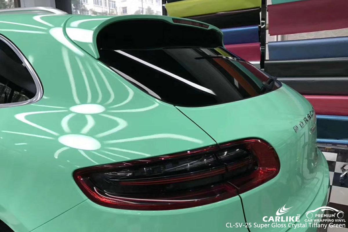 CARLIKE CL-SV-25 super crystal tiffany green vinyl for PORSCHE