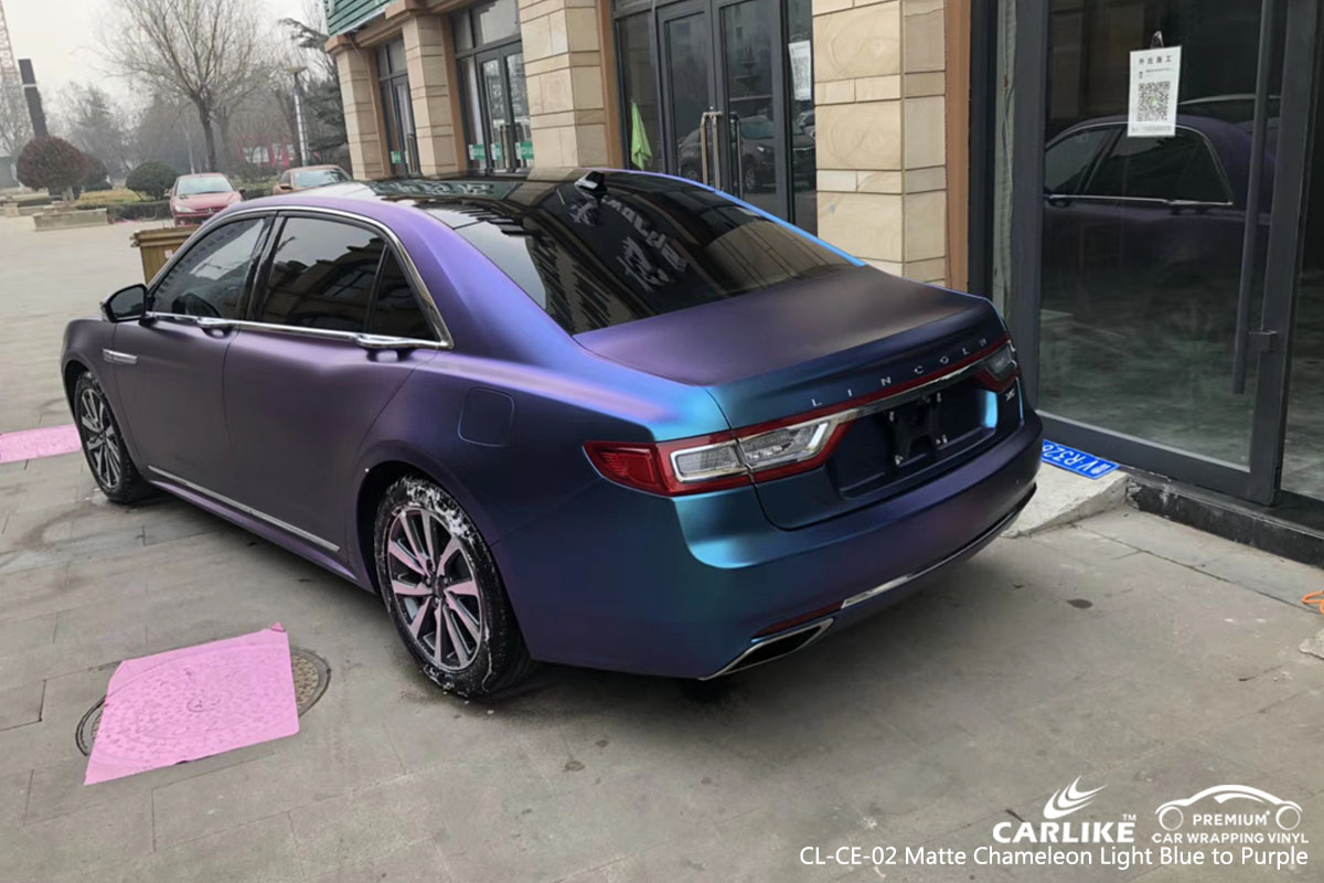 CARLIKE CL-CE-02 MATTE CHAMELEON LIGHT BLUE TO PURPLE VINYL FOR LAND ROVER
