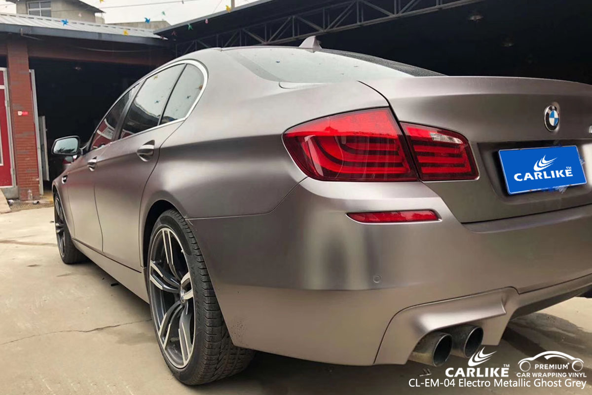 CARLIKE CL-EM-04 electro metallic ghost grey vinyl for BMW