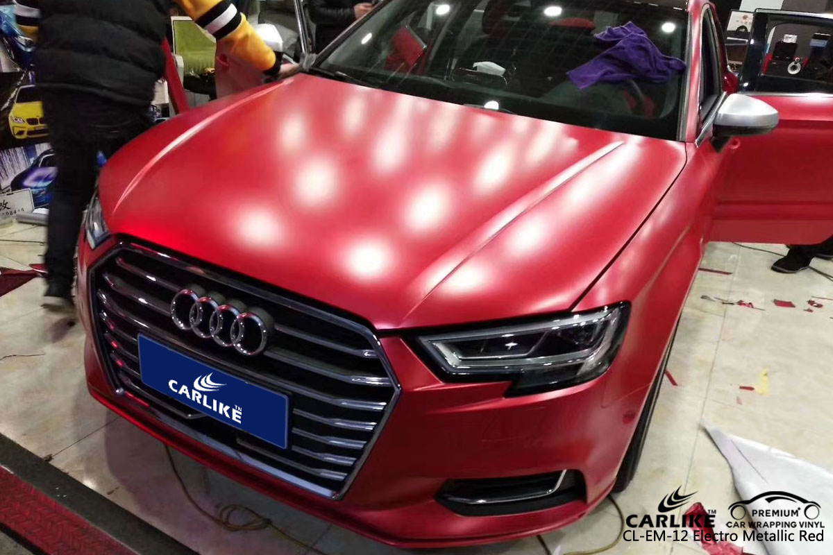 CARLIKE CL-EM-12 electro metallic red vinyl for audi