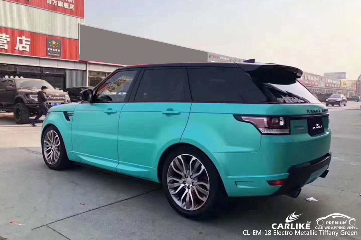 CARLIKE CL-EM-18 electro metallic tiffany green vinyl for Land Rover