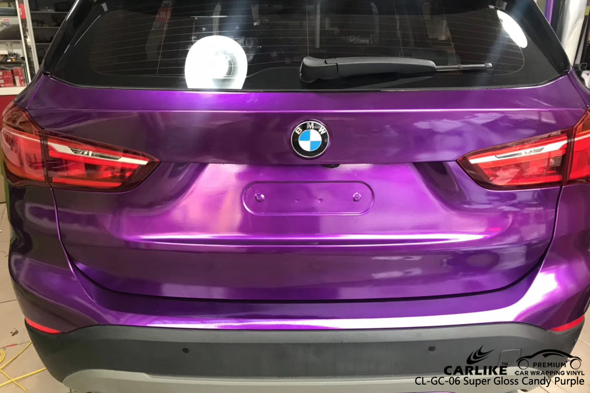 CARLIKE CL-GC-06 super gloss candy purple vinyl for BMW